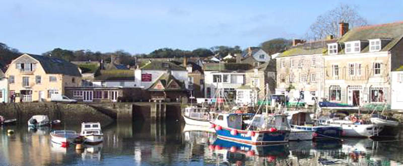 Padstow  harbour with fishing boats -Holidays